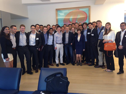 Members visit the offices of Third Point with CEO Dan Loeb (CC '83)