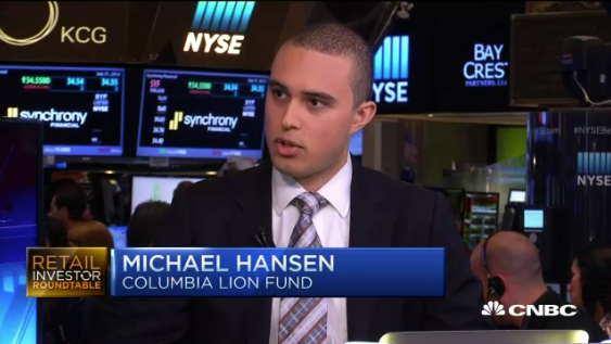 Former CEO Michael Hansen speaks with CNBC at the New York Stock Exchange