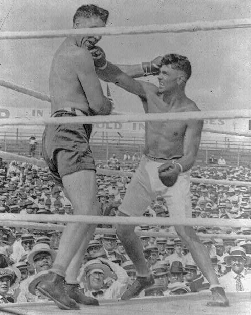 July 4, 1919: Jack Dempsey gives champion, Jess Willard, a savage beating, to win the Heavyweight World Championship.