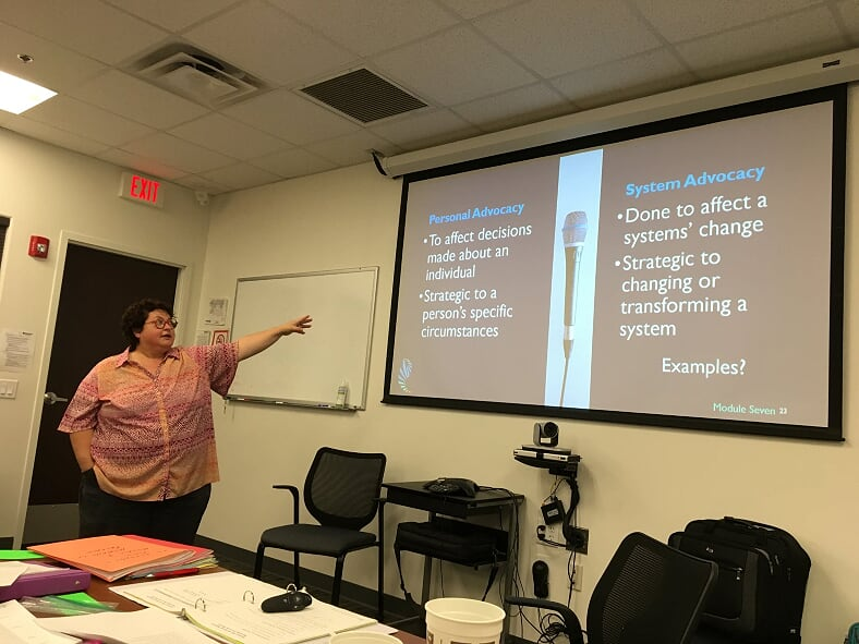 Facilitator Gloriana Hunter (PFCA) discusses ways to advocate for the individual and for system change.