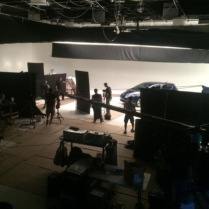 Just shooting a car in a studio. A very large studio. #bts