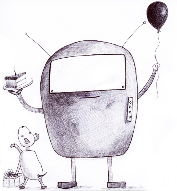 robot party sketch