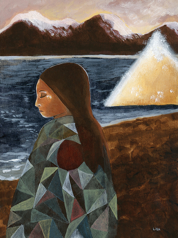Lisa Kurt's painting of Stone Mother