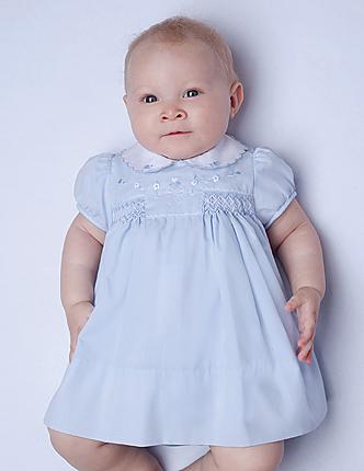45eb4551336 SARAH LOUISE BLUE SMOCKED DRESS — Little Angel Boutiques