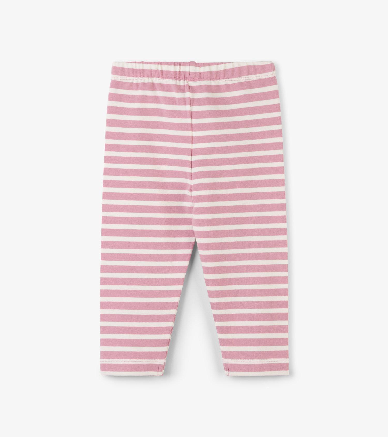 fb9819a5505f1 Hatley Light Pink Stripe Baby Leggings — Little Angel Boutiques