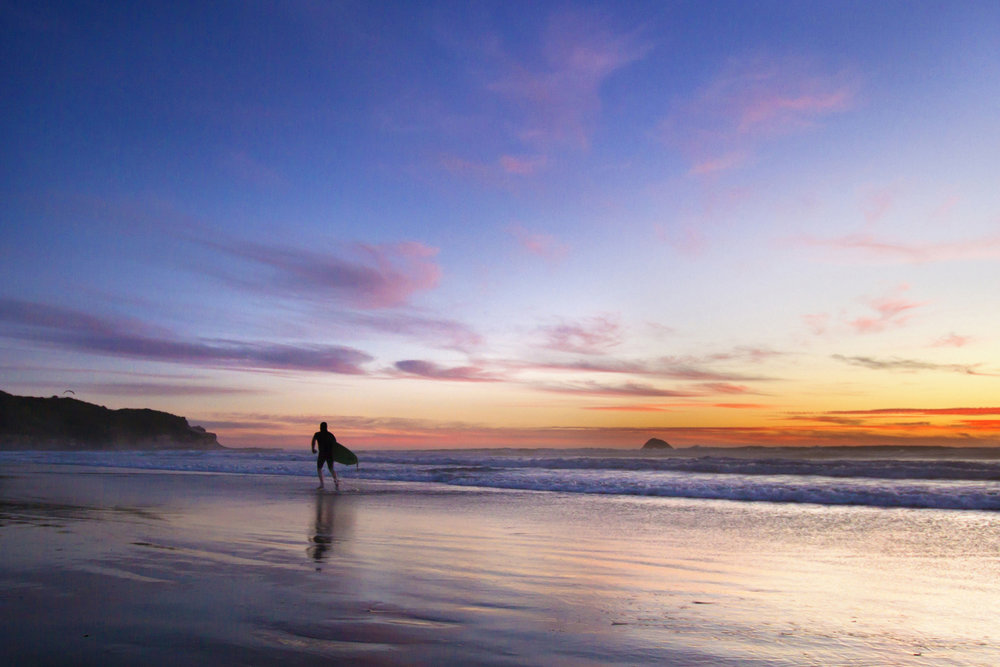 Evening Surfer