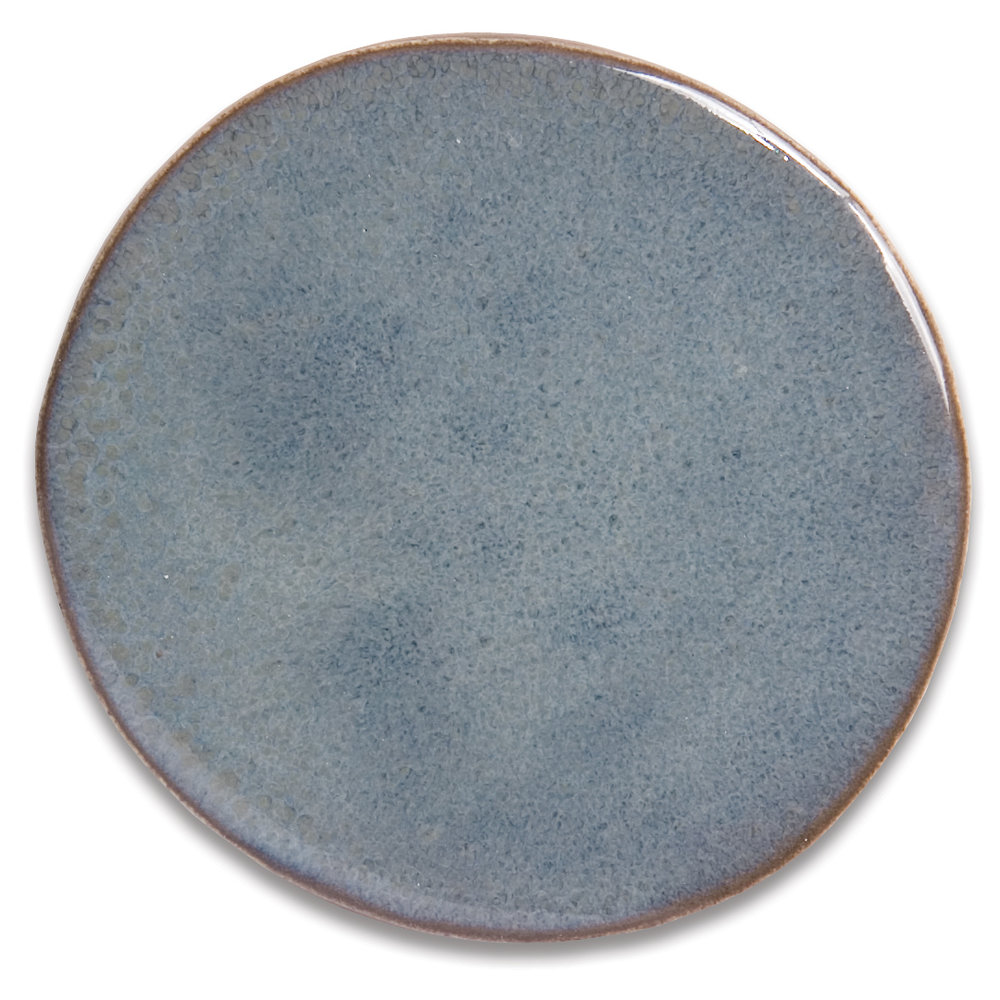 Sea  Rich earth base and edges with mottled tones of deep blue and grey-blue