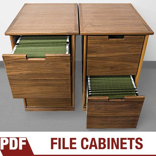 How To Make A Filing Cabinet Using Walnut Plywood