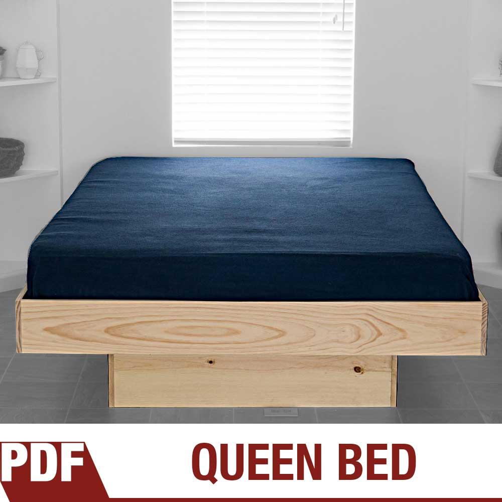 DIY Platform Queen Bed Plans