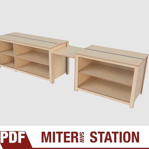 Miter Saw Station Plans