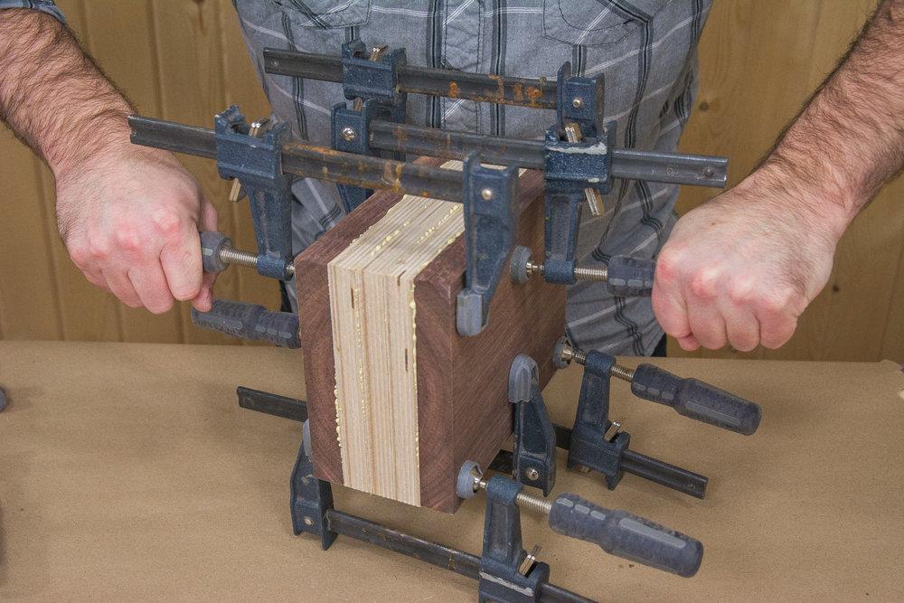 Bandsaw Box Clamping
