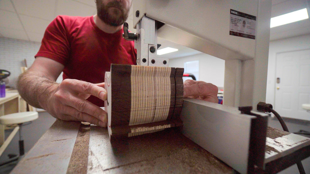 cutting back off of bandsaw box