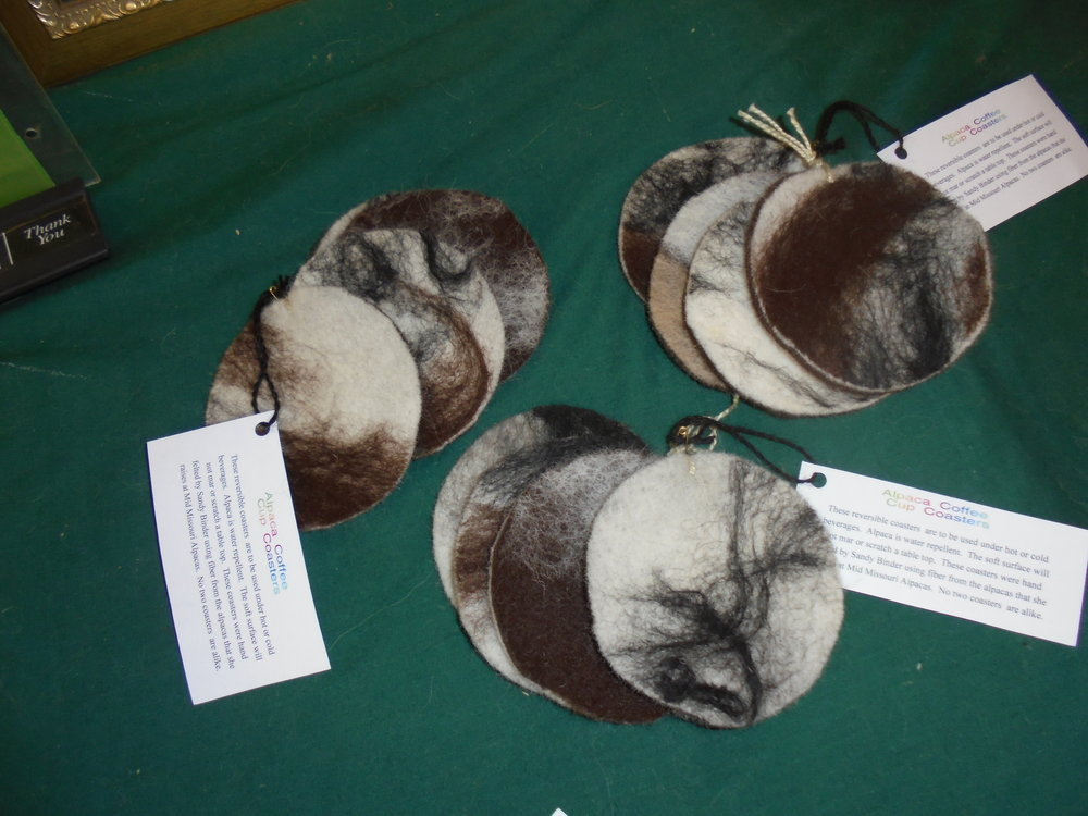 100% Hand-Felted Coasters
