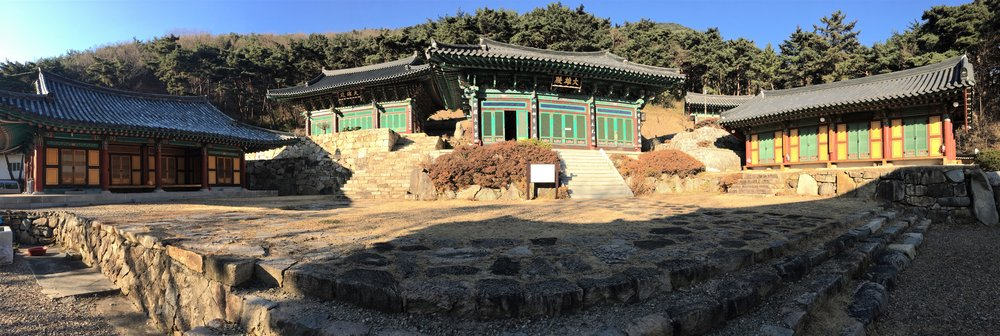 Panoramic view of the temples on our hike!