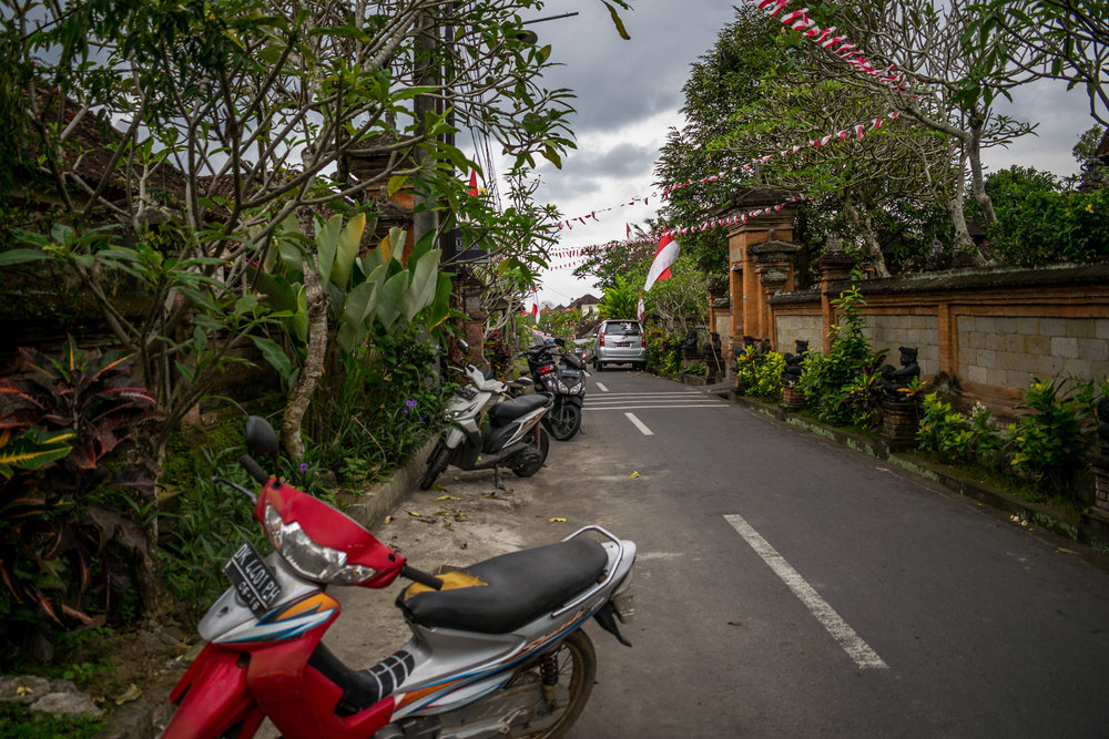 Residential area in Ubud