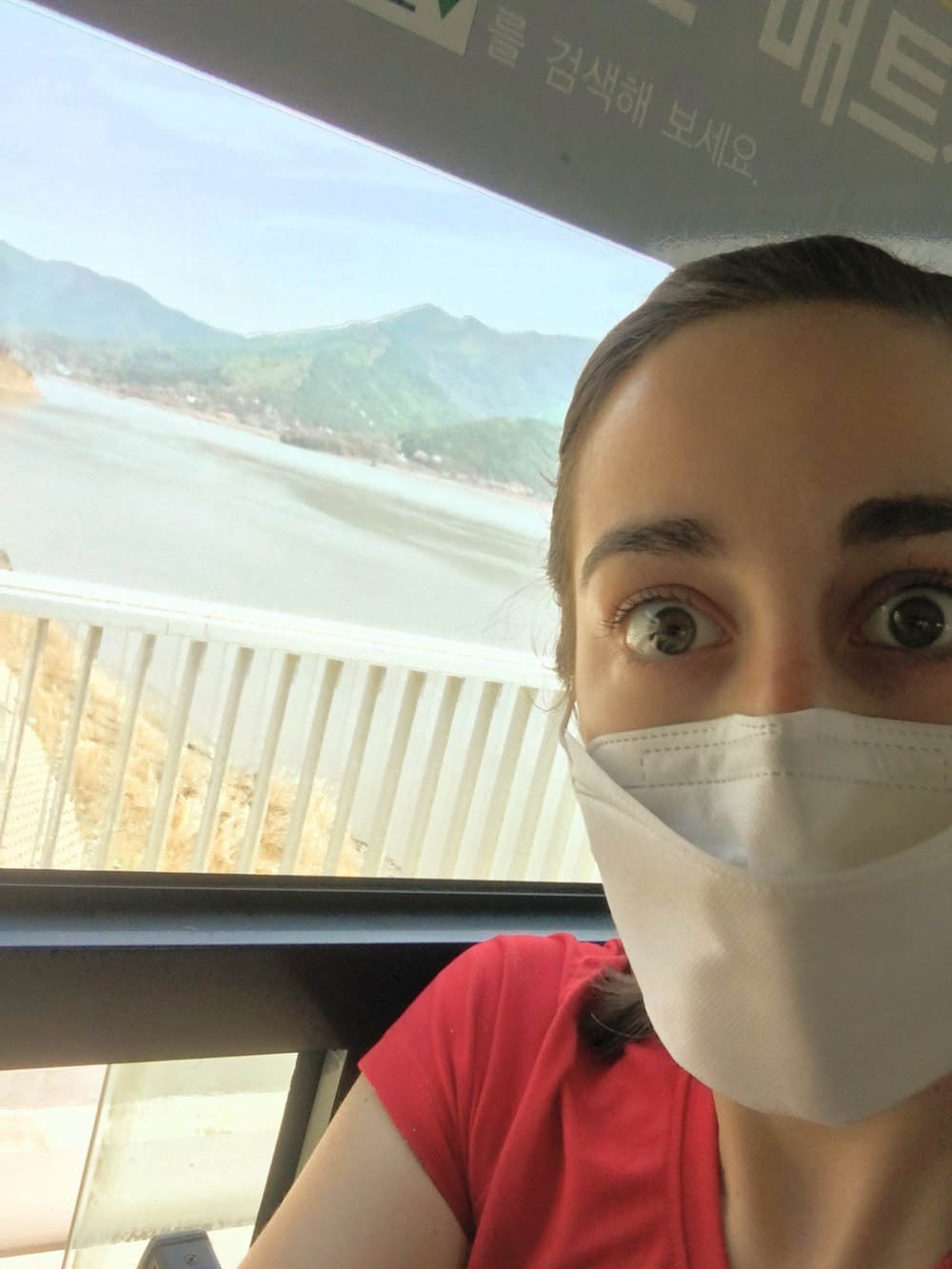 "The ""Yellow Dust"" and air quality has been super awful so for the sake of my lungs, I opted for the face mask as many others in the country do."