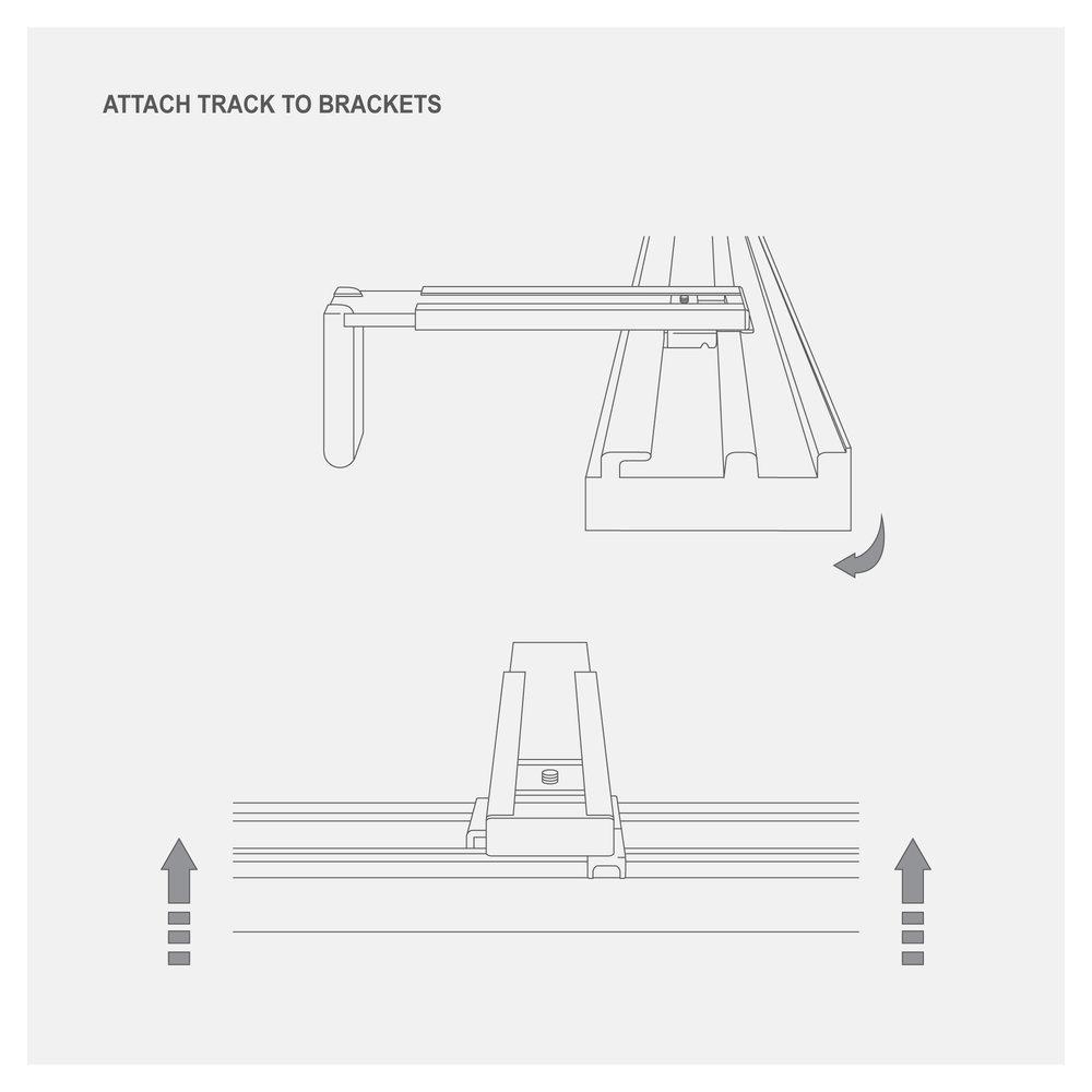 S Fold Curtain - Attach Track