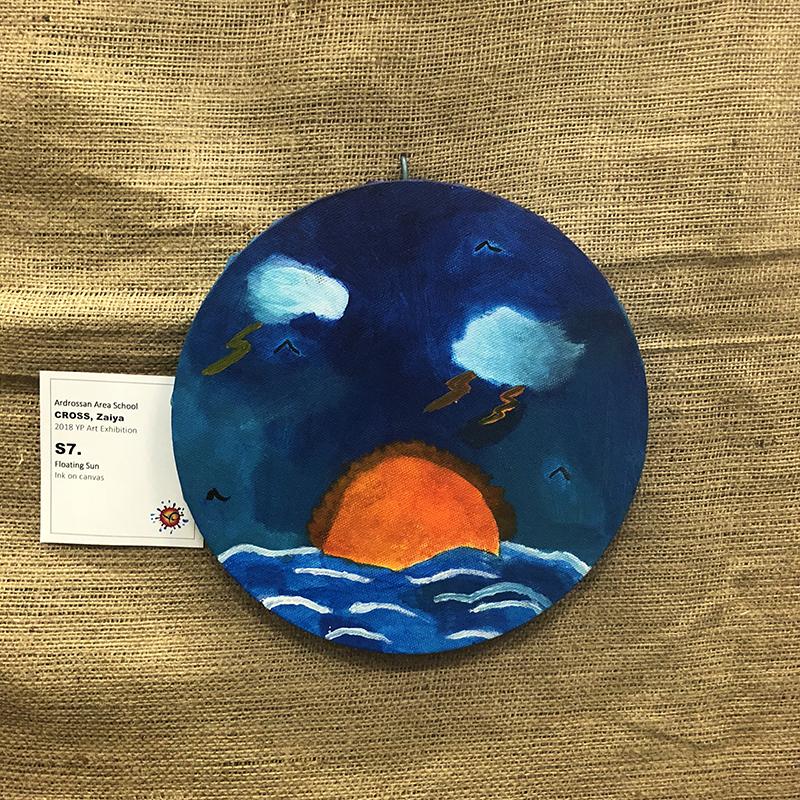 Primary School Awards   First Prize $100.00 – Zaiya Cross (Floating Sun)Ardrossan Area School