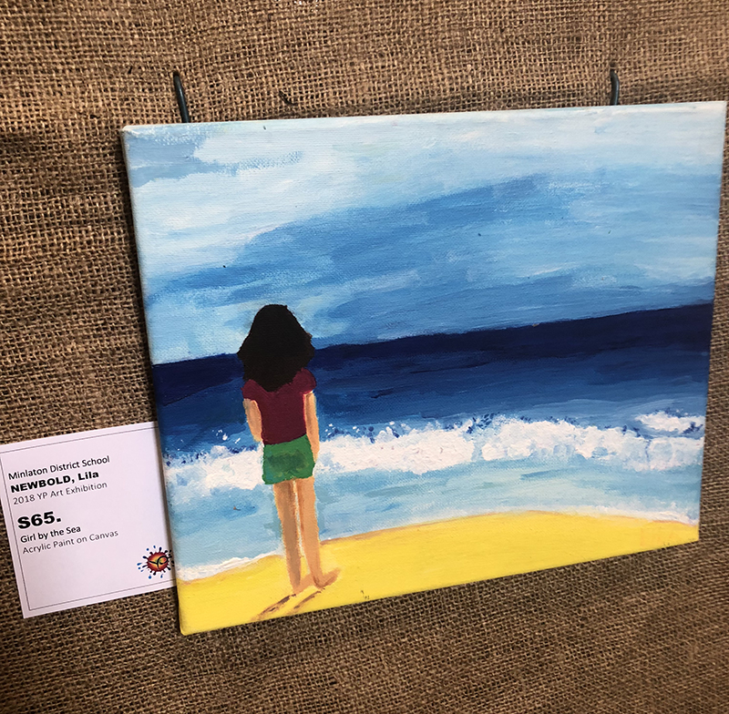 Middle School Awards   First Prize $150.00 – Lila Newbold (Girl by the Sea) Minlaton District School