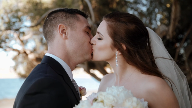 They kiss after the big reveal.