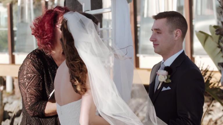 Matthew saying his vows.