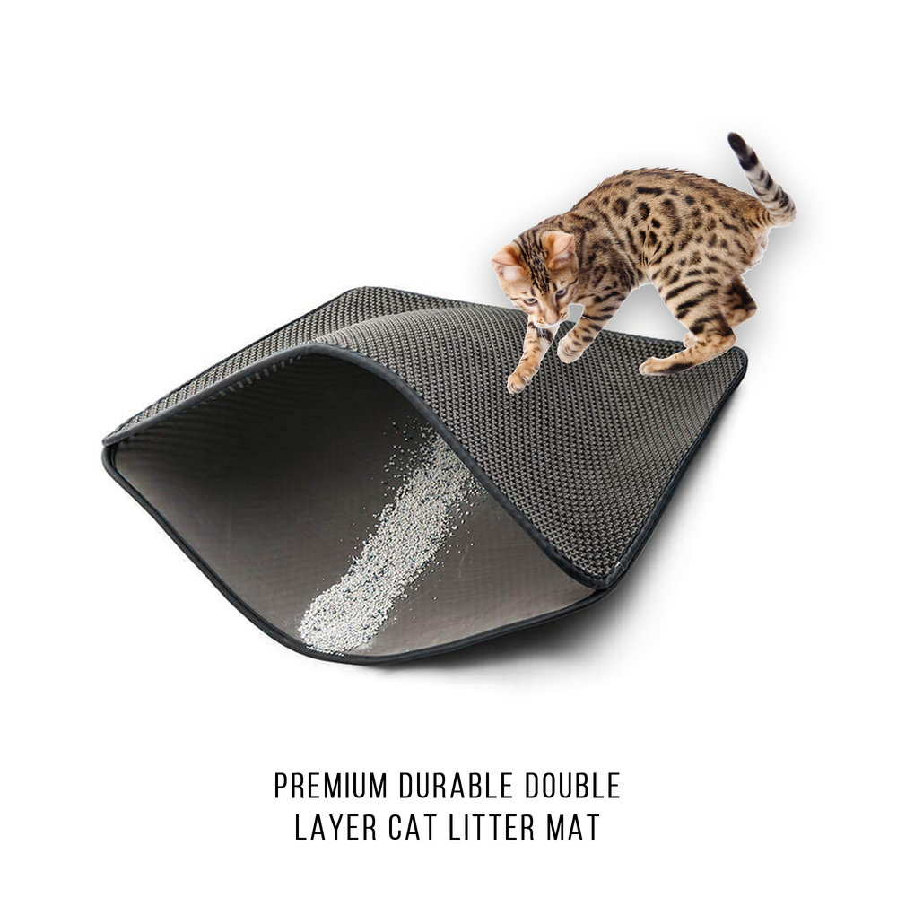 Pet Craft Supply Premium Durable Double Layer Cat Litter Mat Trapper
