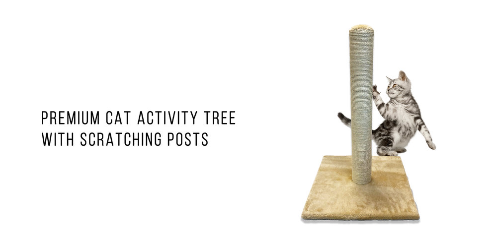 Pet Craft Supply Premium Cat Activity Tree with Scratching Posts