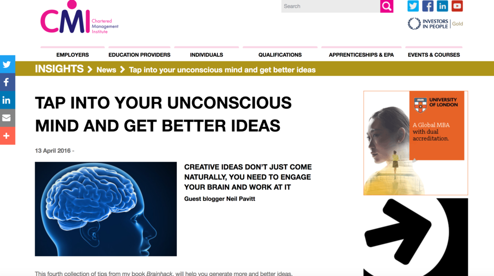 How to tap into your unconscious to get better ideas