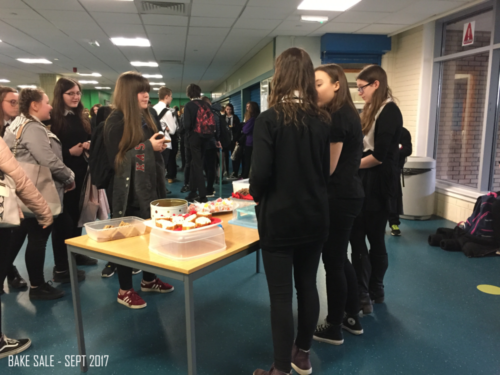School Bake Sale - Our school have been amazing support and have allowed us to have a number of bake sales to help us slowly raise all of the funds needed for us to compete in Singapore in September. The team have managed to get all parents on board who have been helping us bake for the sales to ensure we are maximising our intake!