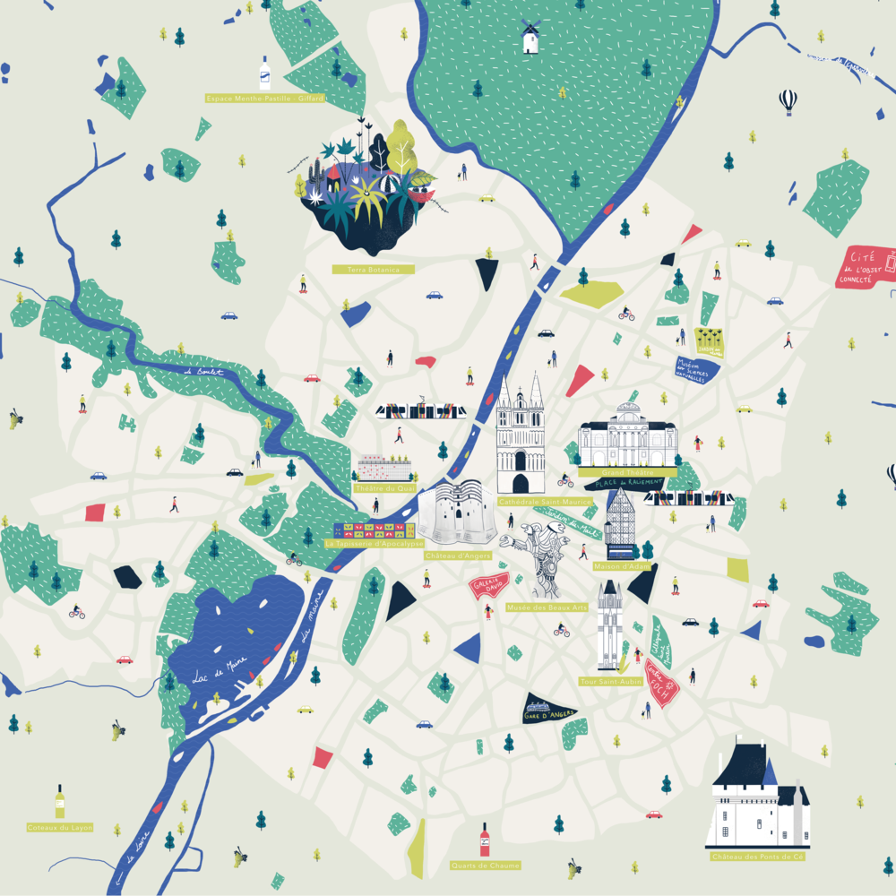 angers - map