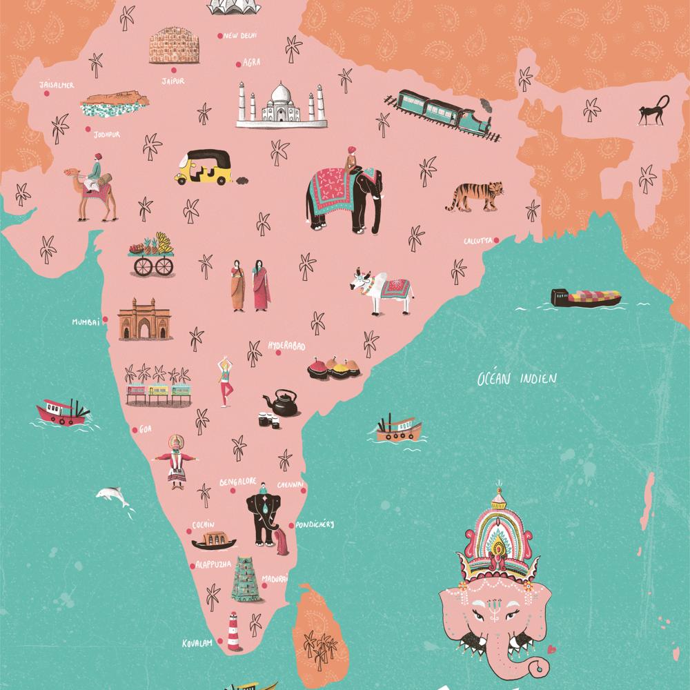 india - map