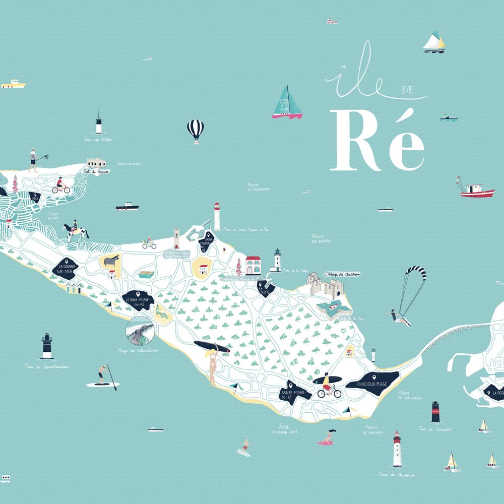 île de Ré - Map