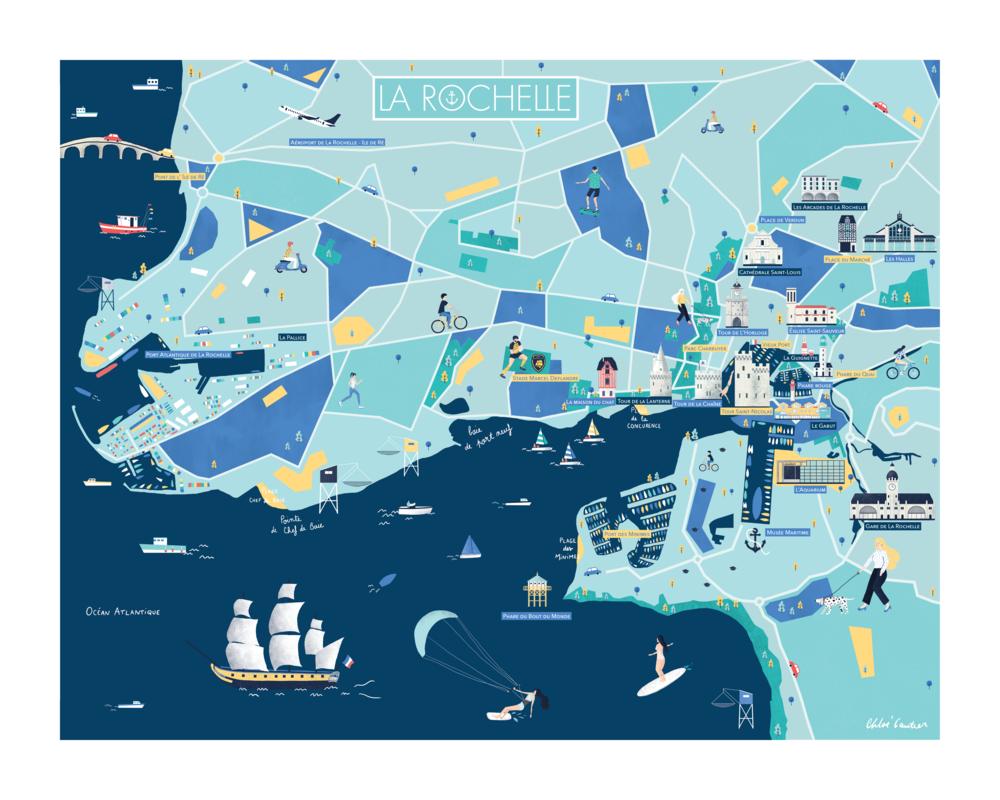 La Rochelle - Map