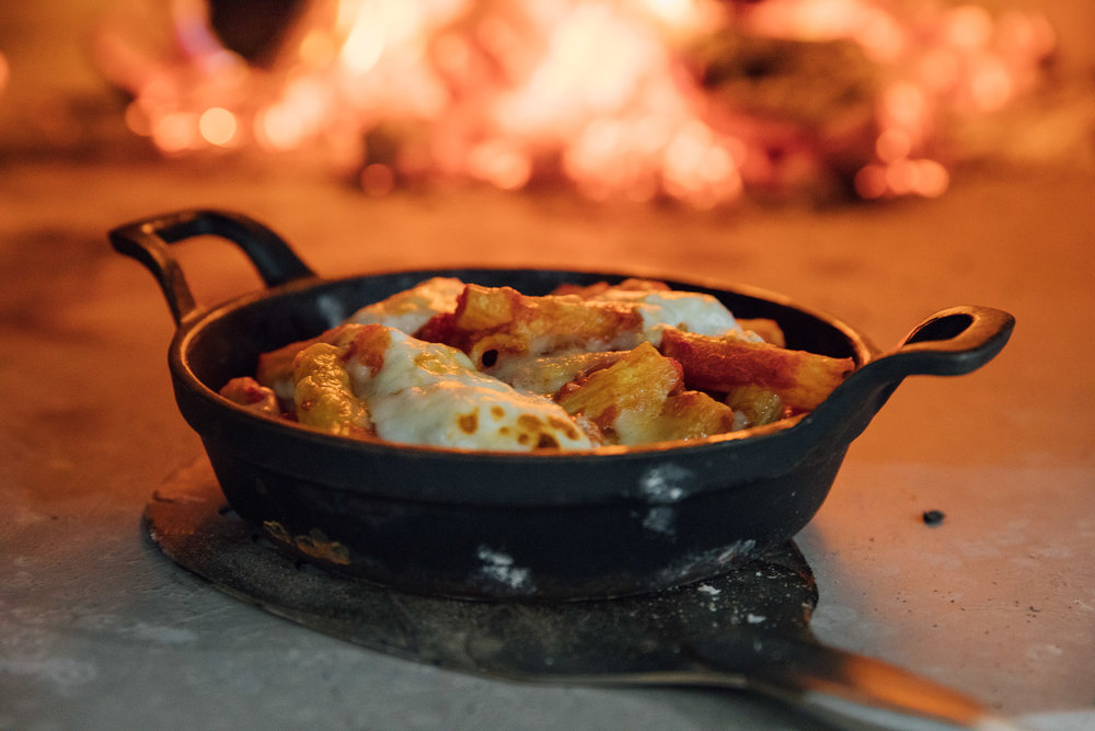 Pasta al Forno baked in the wood-fired oven at Oakman Inns