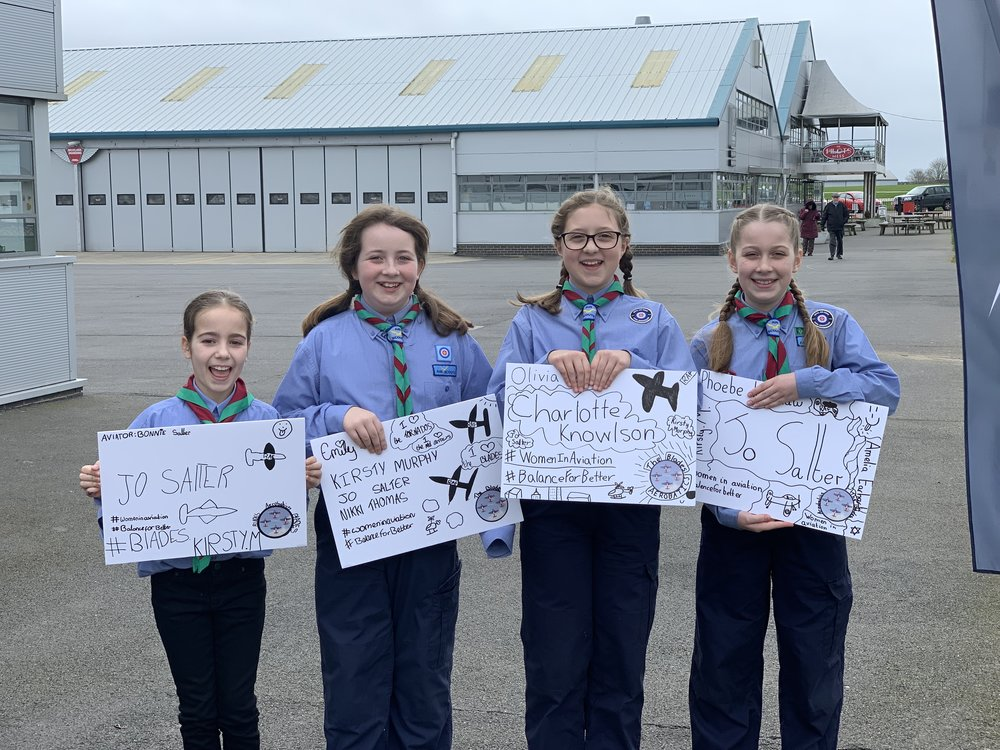 The Air Scouts- Bonny, Emily, Olivia & Phoebe.