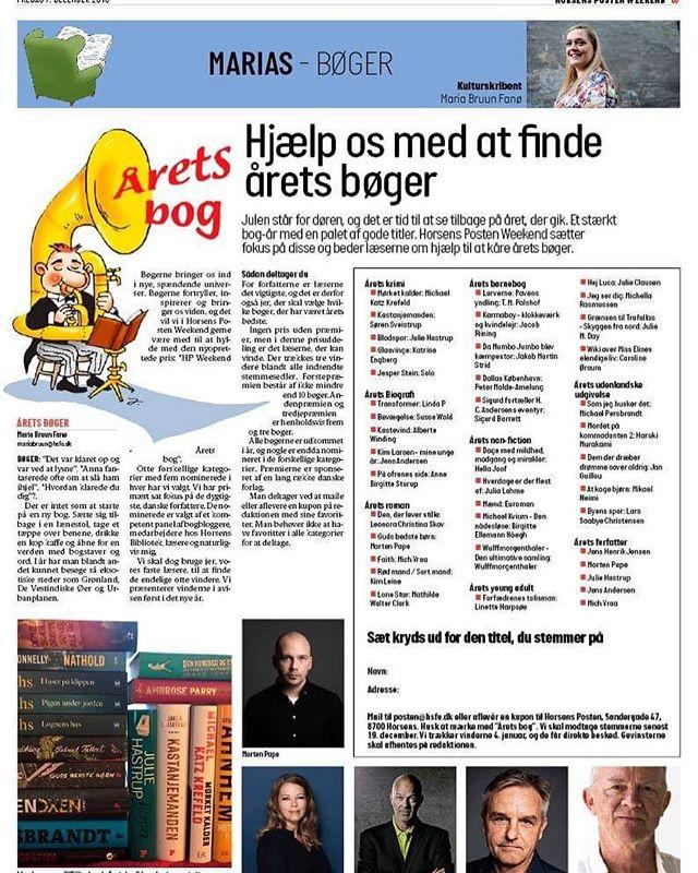 Horsens Posten Weekend er igang med at kåre årets bøger OG Larverne er i opløbet om at blive Årets Børnebog 🦋🙏❤️🐛 #tmpalshof #teamlarverne #politikensforlag