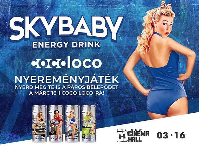 🍀NYEREMÉNYJÁTÉK🍀 Nyerd meg Te is páros belépődet a bulira a SkyBaby Energy Drink jóvoltából‼ Ehhez nem kell mást tenned mint ⬇ 🔵Kövesd be a Skybaby-t instagramon (skybaby_energydrink) 🔵Hívd meg a facebook eseménybe legalább 200 ismerősödet‼ 🔵Behívás és Követés után készíts képernyőfotót a behívásokról,és posztold be ezt az esemèny üzenőfalára‼