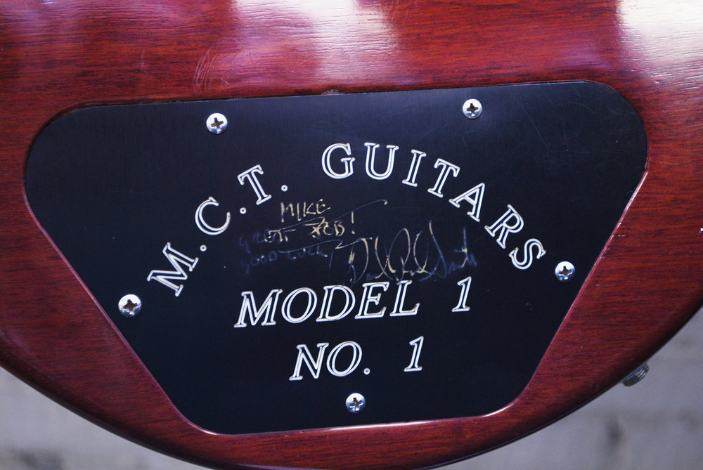 Paul Reed Smith signature on control cavity plate
