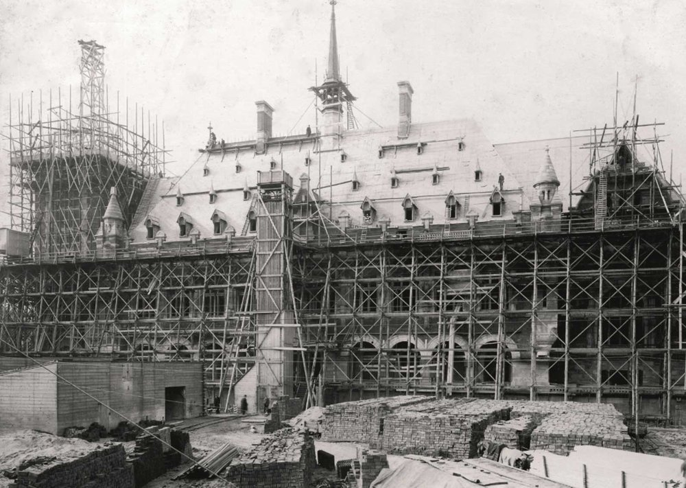 The construction of the Peace Palace