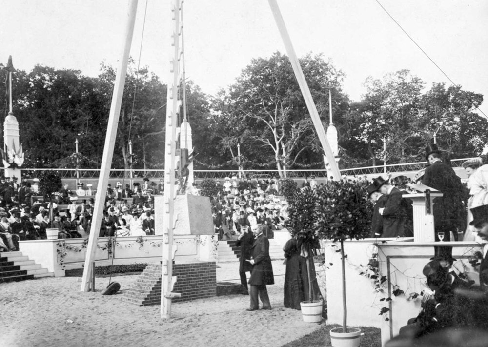Ceremony of foundation stone Peace-Palace, 1907