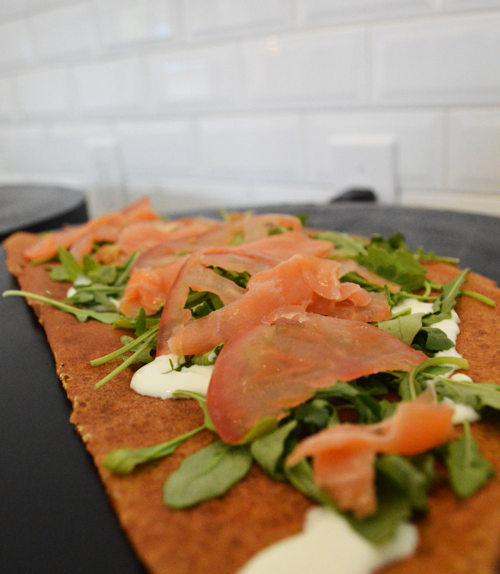 Smoked Salmon Crepe