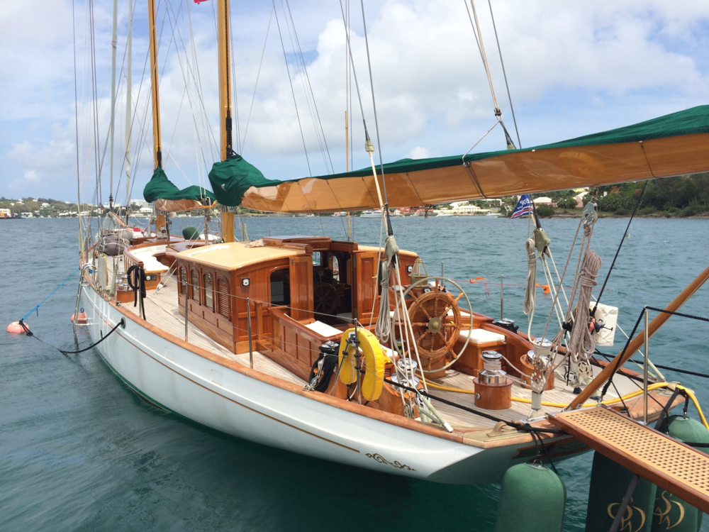 Summer Wind  - 100' Alden Design Schooner, GMT Pocket Booms and Rig