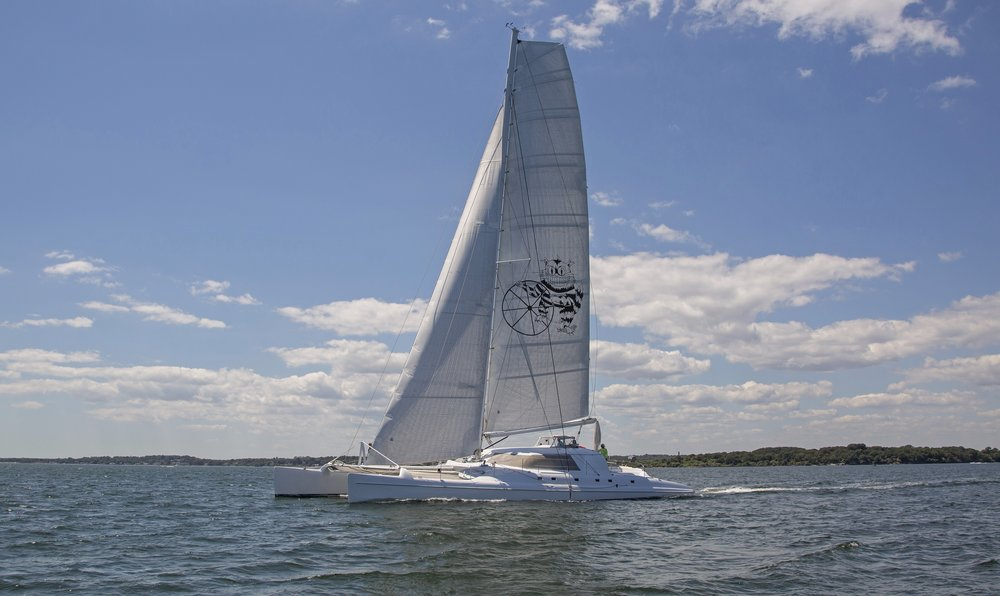 Fat Cat  - 80' Morreli Design Custom Catamaran - GMT Carbon Rig and Cross Beam