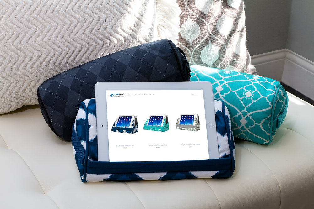 Tablet Pillow - If you fell in love with our lap desk, then we know you'll fall head over heels with our tablet pillows. Available in multiple colors and patterns, there is one (or two) that will fit your style perfectly. Its compact size makes it great for traveling or even to use at home. At LapGear™ we make sure that our tablet pillows aim to please.