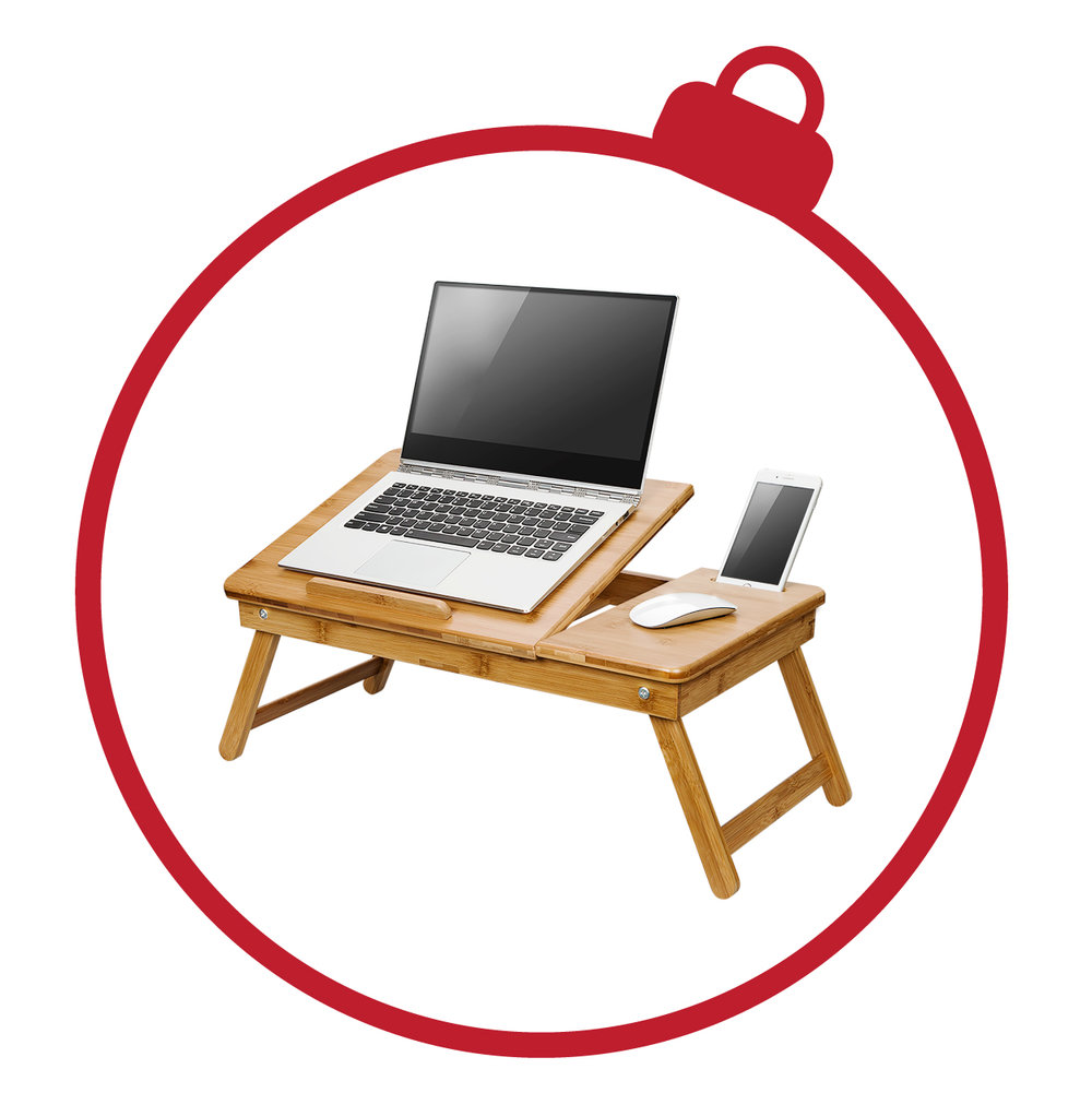 Safety-Tilt Laptop Table - One of our pride and joys is the Safety-Tilt Laptop Table. With a unique locking mechanism that protects your fingers, this product elevates to six different positions, making it easily one of our most versatile.