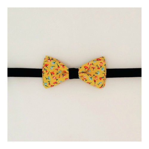 98d4998a85d05 START-UP KIT! Nœud papillon jaune à fleurs • Yellow flowery bow tie ...