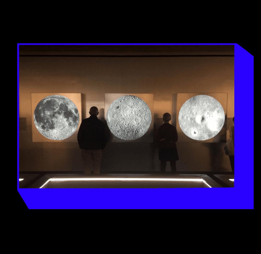 NASA photos from The Moon exhibition. Louisiana Museum of Modern Art, Humlebæk. 2018.