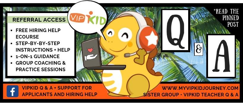 VIPKID Hiring Help Facebook Group