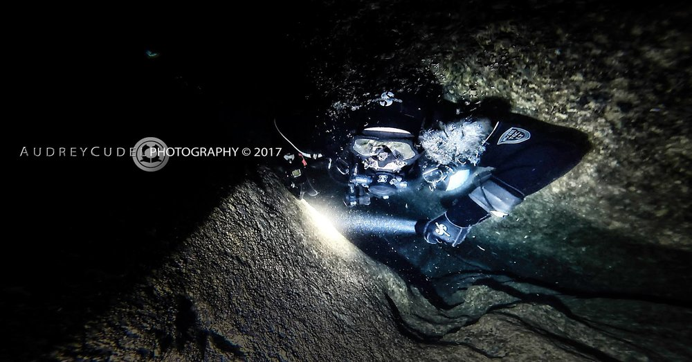 - Mirco (Diver) SM, Cavern & Intro to Cave courses, 2016-2017 'Visiting Gozo the first time, I truly felt inspired by diving the caverns and rock formations, so decided to look for future training in similar environments. This way I discovered Gozo and started my Sidemount and Cave training with Audrey Cudel. I cannot recommend anyone more than her. She is a very dedicated Sidemount and Cave Diver and Instructor, has impeccable knowledge about this activity and the environment and is also a very talented underwater photographer. Also she has marked pedagogical skills and a good mindset for teaching. The training is conducted in a tough, demanding, and thorough manner in the best standards available. A large number of training courses is scheduled all year around enabling good access to cave diving training and individual arrangements are possible upon consultation.Overall, it must be said that the contact and training with Audrey substantially inspired and stimulated my further diving activities.'