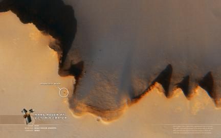 Wallpaper: Opportunity at Victoria Crater